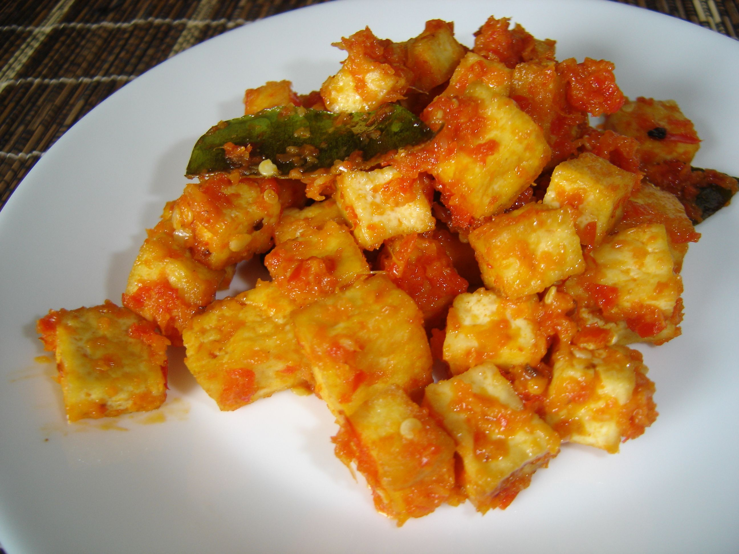 Tasty Indonesian Food - Balado Tahu